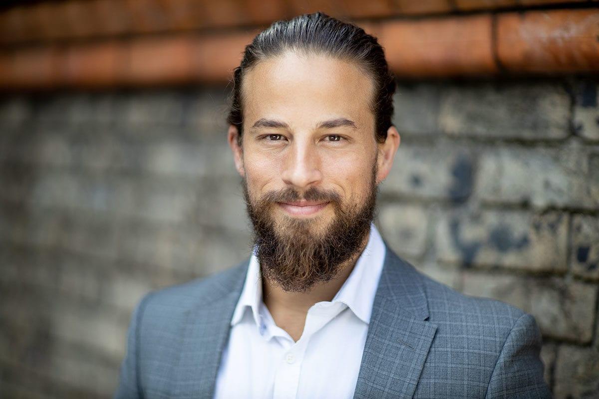 corporate headshot Sydney male beard